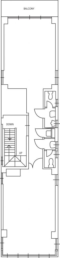 2階間取図(ゲストハウス用物件)